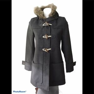 Old Navy Gray Hooded Pea Coat
